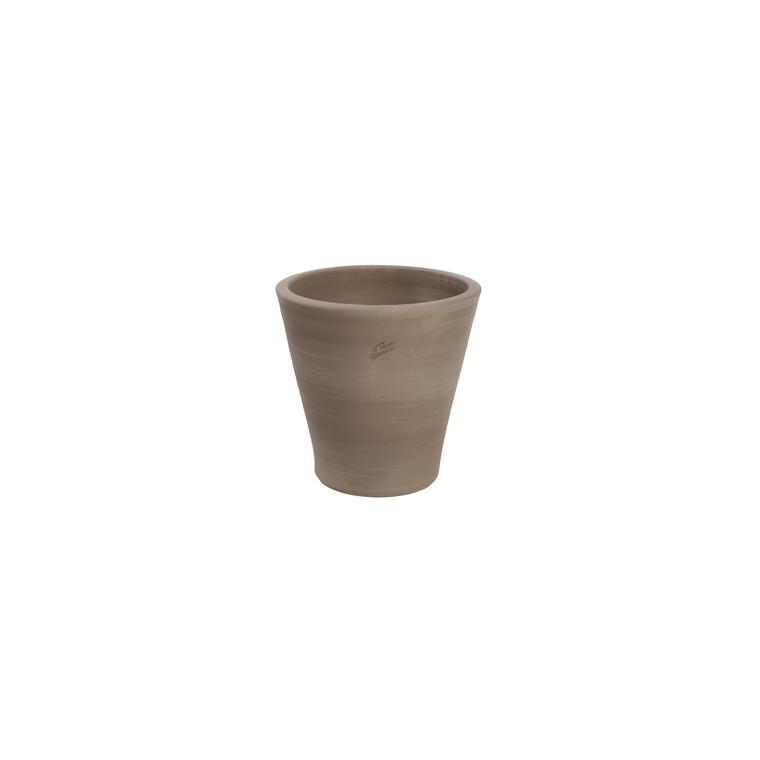 Pot Cuvier contemporain  en terre grise H 32 x Ø 31 cm 162894