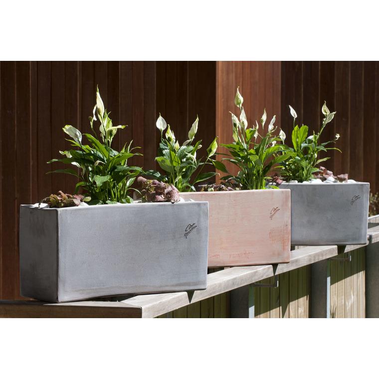 jardini re haute en terre grise 52x20x25 cm pots et contenants plantes poterie goicoechea nos. Black Bedroom Furniture Sets. Home Design Ideas
