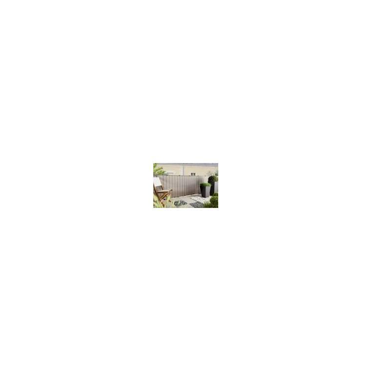 Brise-vue Everly, coloris gris, 500 x 100 cm 163357