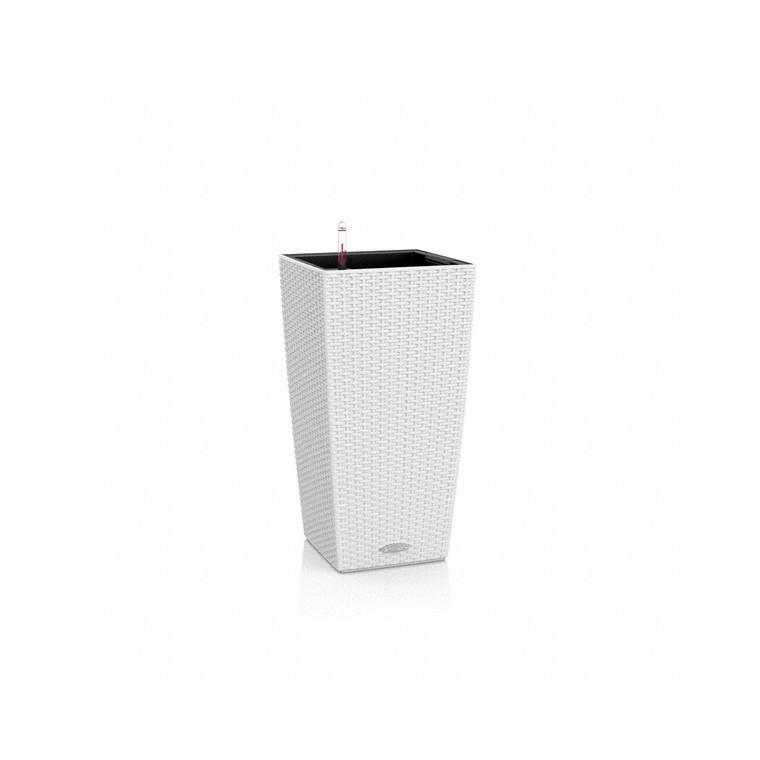 Pot 30cm Cubico Cottage kit complet blanc Lechuza L.30 x l.30 x H.56cm 163432