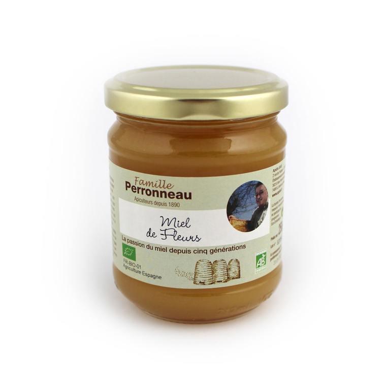 Miel de fleurs bio - pot en verre de 250 g 16384