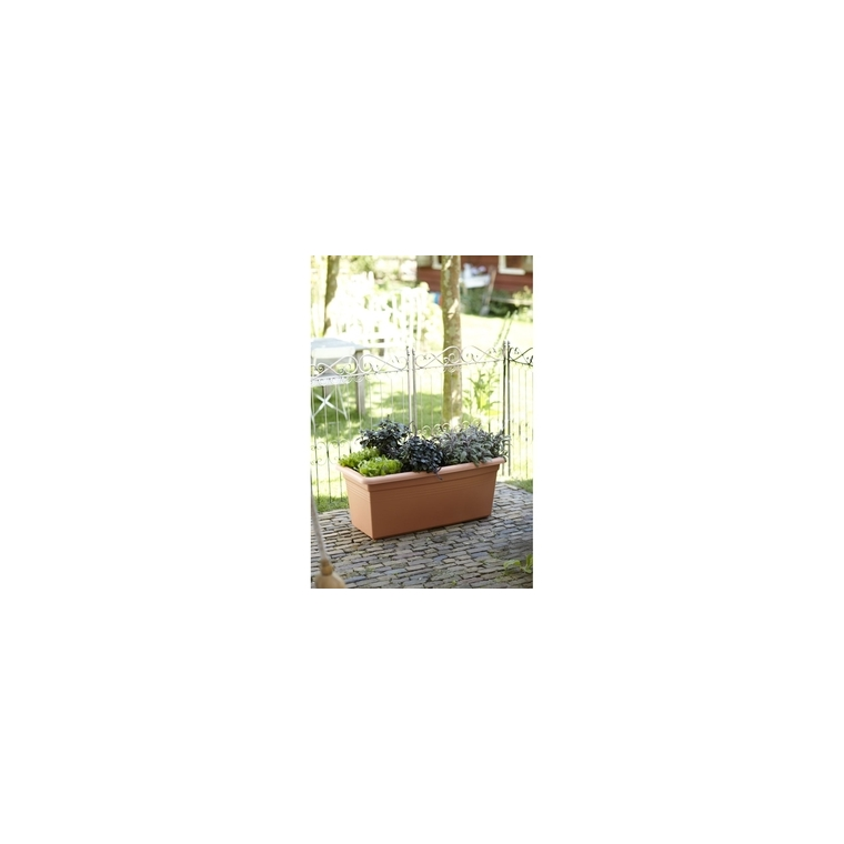 Jardinière Green basics jardin XXL L100 x p48 x h42 cm coloris terre cuite Claire 165226