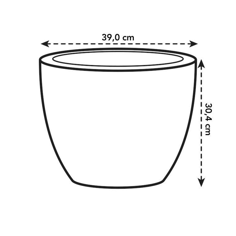 Pot 40cm Pure Soft Round avec roulettes 40 cm Elho anthracite 165259