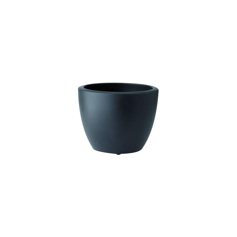 Pot 40cm Pure Soft Round avec roulettes 40 cm Elho anthracite