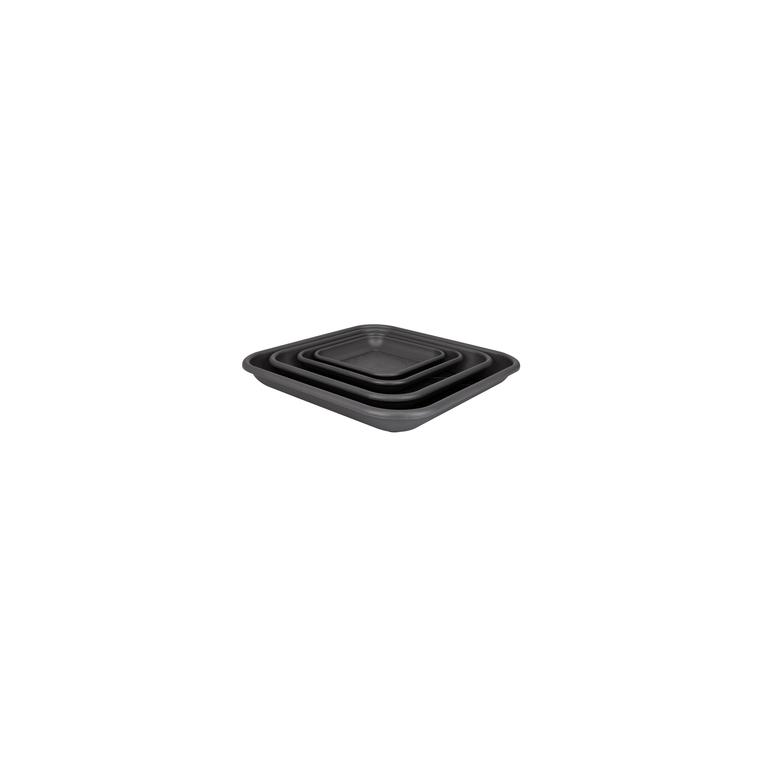 Soucoupe carrée 20cm anthracite ELHO 165297