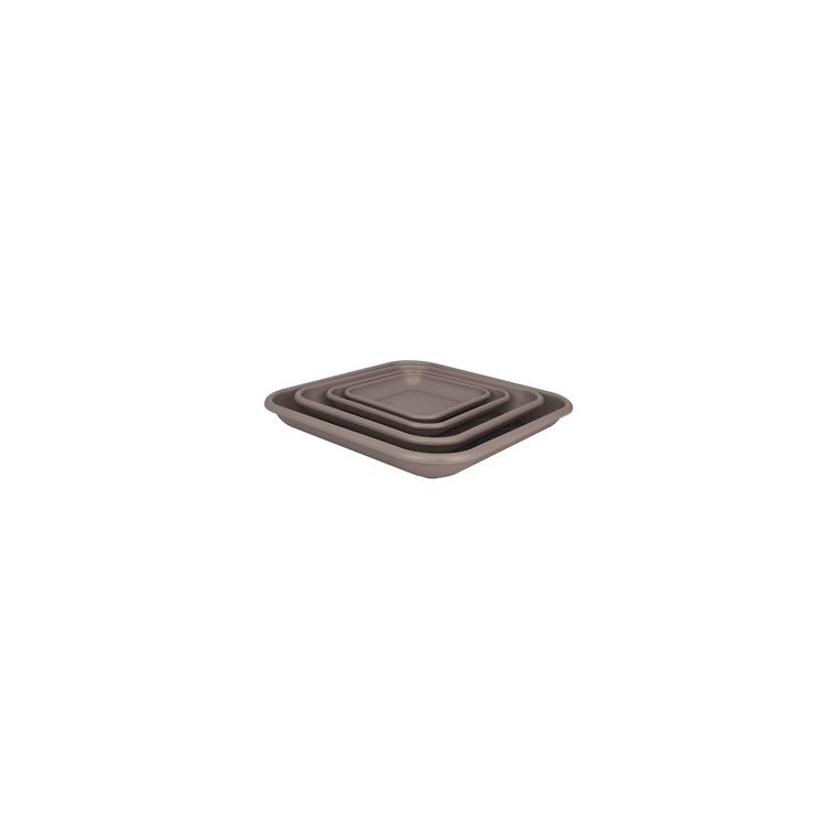 Soucoupe carrée 32 cm taupe ELHO