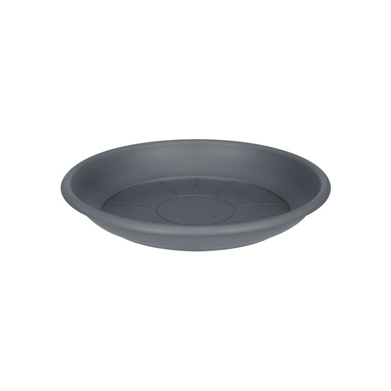 Soucoupe ronde 16 cm anthracite ELHO