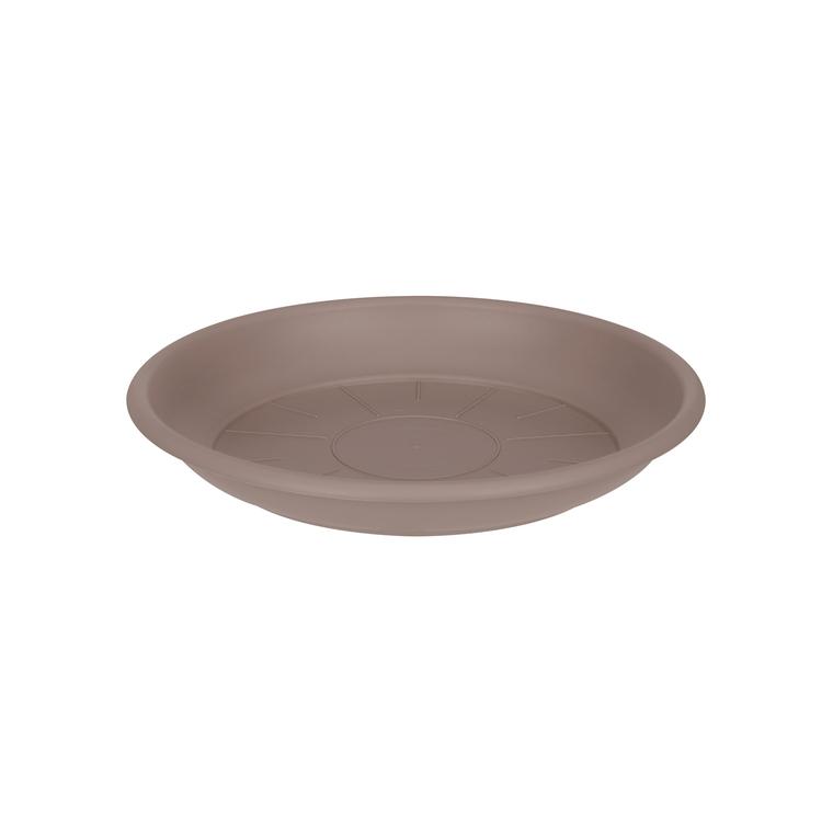 Soucoupe ronde 14 cm taupe ELHO 165336