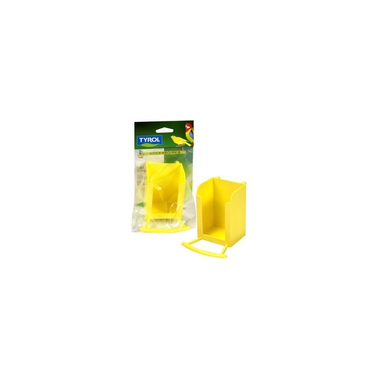 Porte échaudes jaune 9x4,9xH6,5 cm 167351