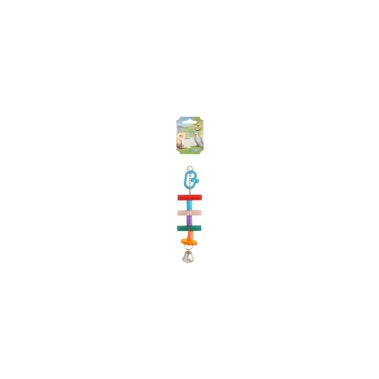 Jouet pour oiseaux échelle multicolore 23 cm 167363