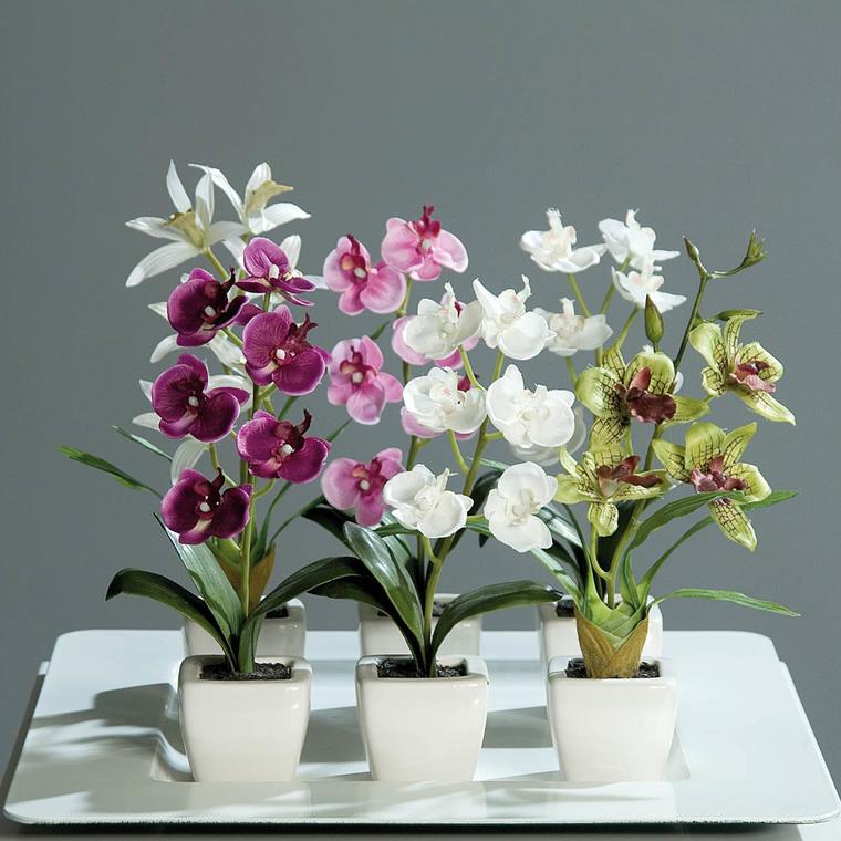 Orchidée artificielle pot H18 cm 169280