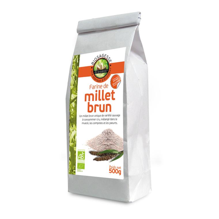 Farine de millet brun sauvage bio en sachet de 500 g 169365