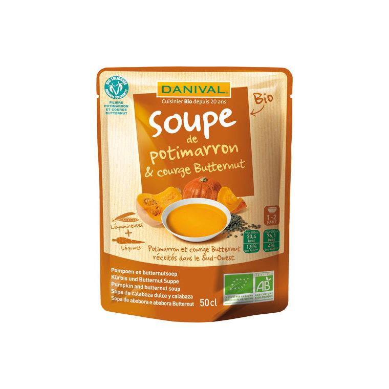 Soupe bio potimarron et courge butternut 50 cl 169397