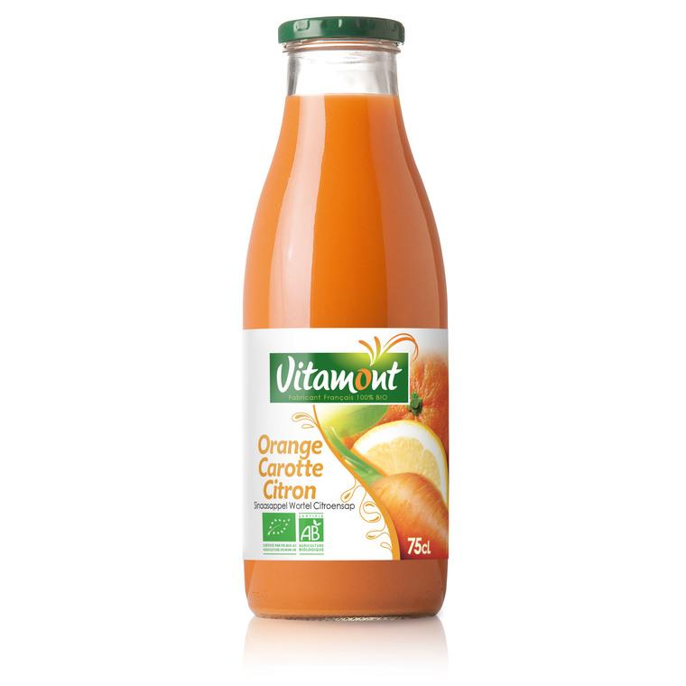 Cocktail bio orange carotte citron 75 cl