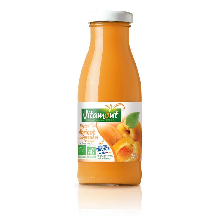 Mini nectar d'abricot bio des Pyrénées-Orientales - 25 cl 169553