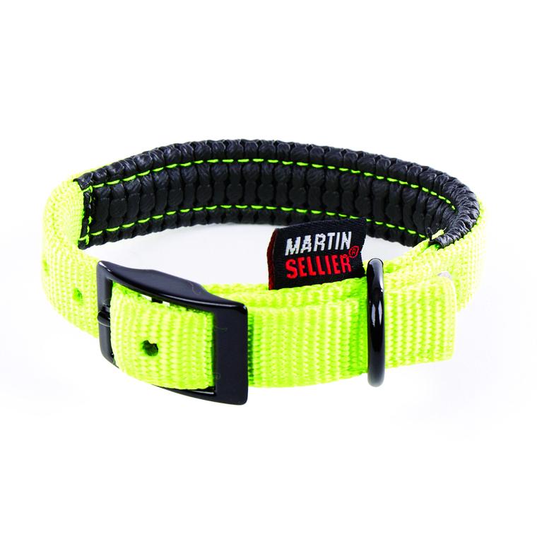Collier droit Confort pour chien coloris vert citron - 16x35 cm 170224
