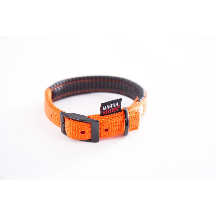 Collier droit Confort pour chien coloris orange - 2,5x55 cm 170239