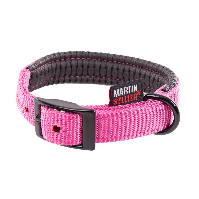 Collier droit Confort pour chien coloris rose - 2,5x65 cm 170245