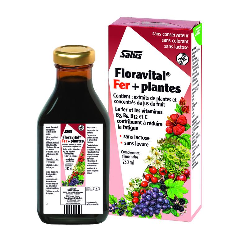 Floravital fer + plantes sans gluten formule liquide 250ml 170816