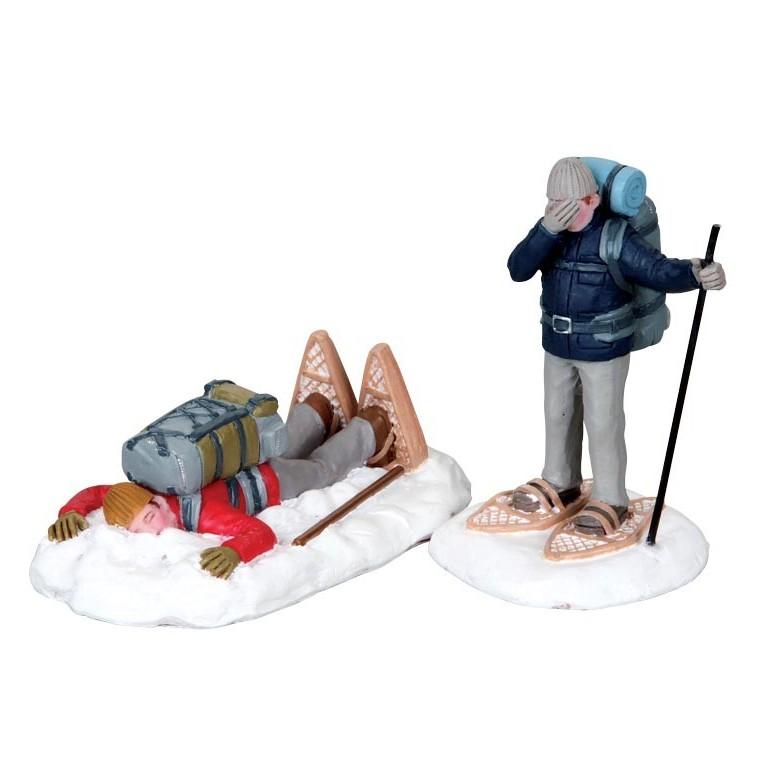 Figurine Lemax Trébucher en raquette 170911