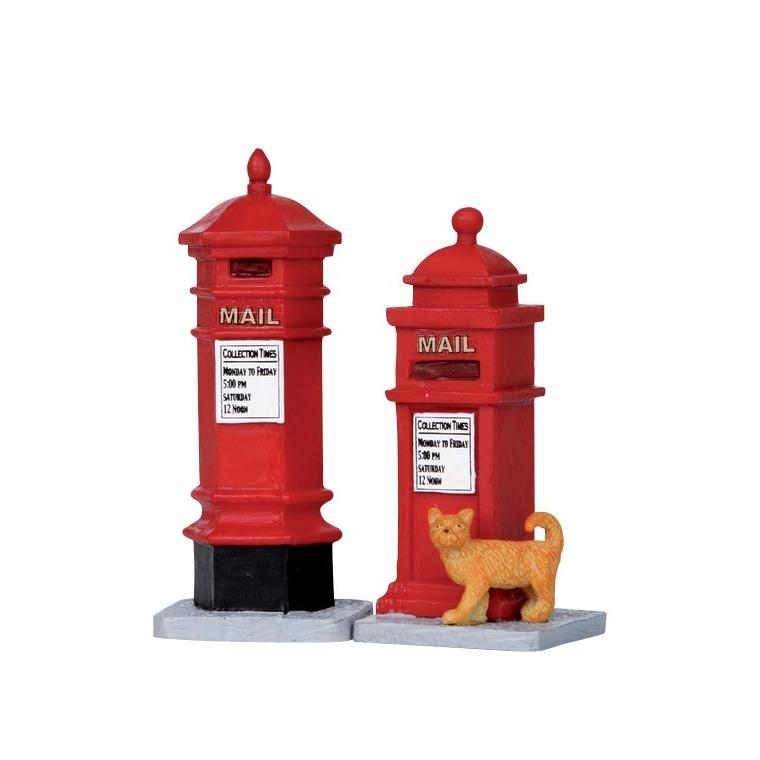 Boites aux lettres victoriennes rouges 3 x 3 x 7.5 cm 170951