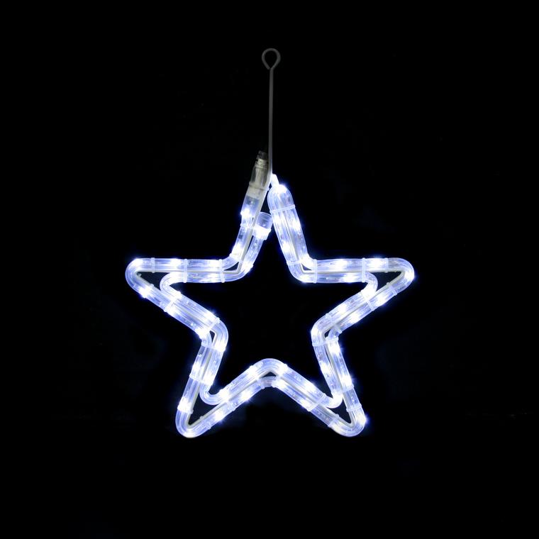 Etoile LED blanc raccordable et animable 48 LED 29,5 x 29,5 cm 171040