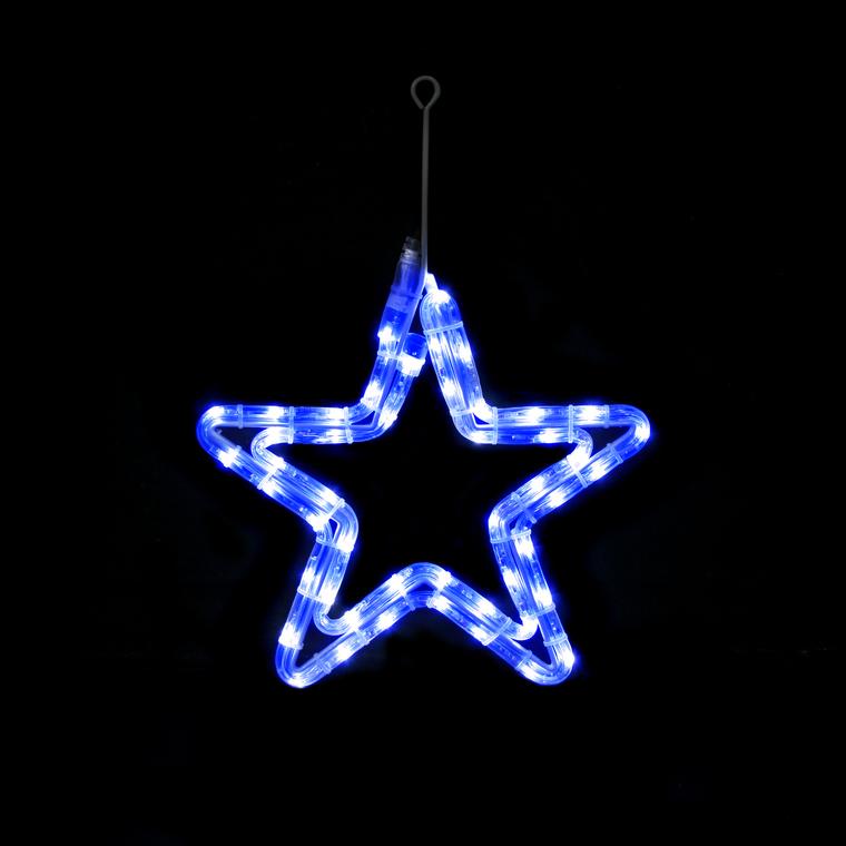 Etoile LED bleu raccordable et animable 48 LED 29,5 x 29,5 cm 171041