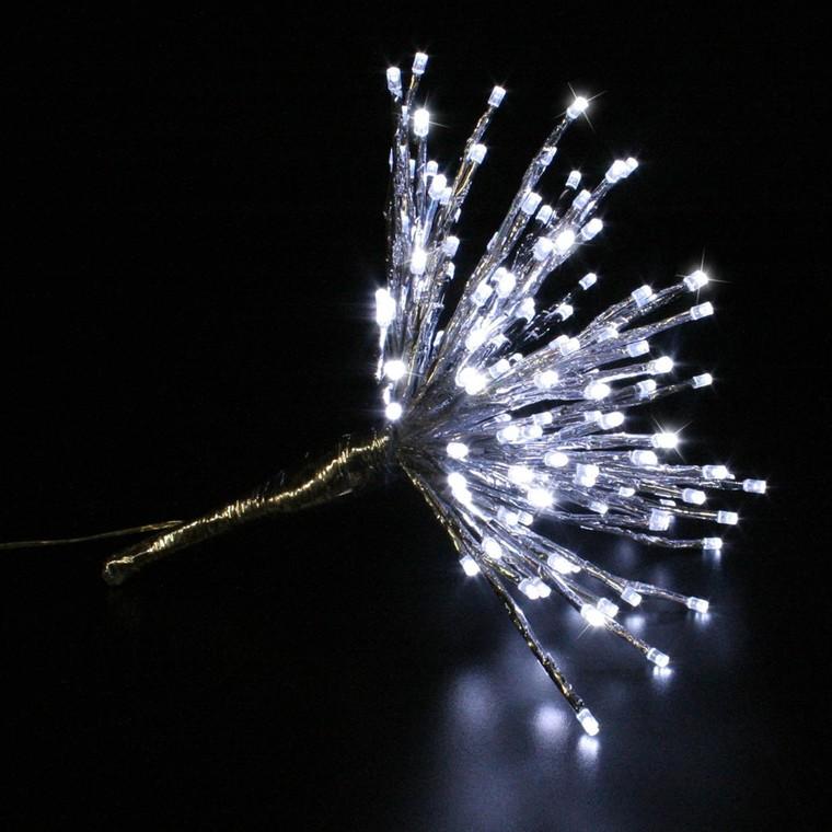 Bouquet lumineux Spray argent led blanc D. 30 cm 171051
