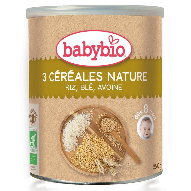 Trois Céréales Nature bio 250 g BABYBIO 171290