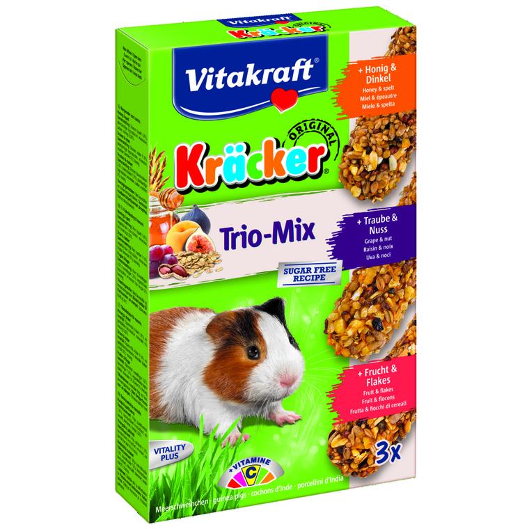 Trio Mix Miel Fruits et Noix pour cochon d'inde