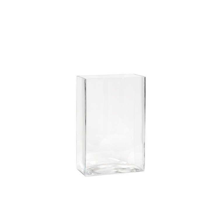 Vase Britt rectangulaire transparent en verre 10x20x30 cm 174565
