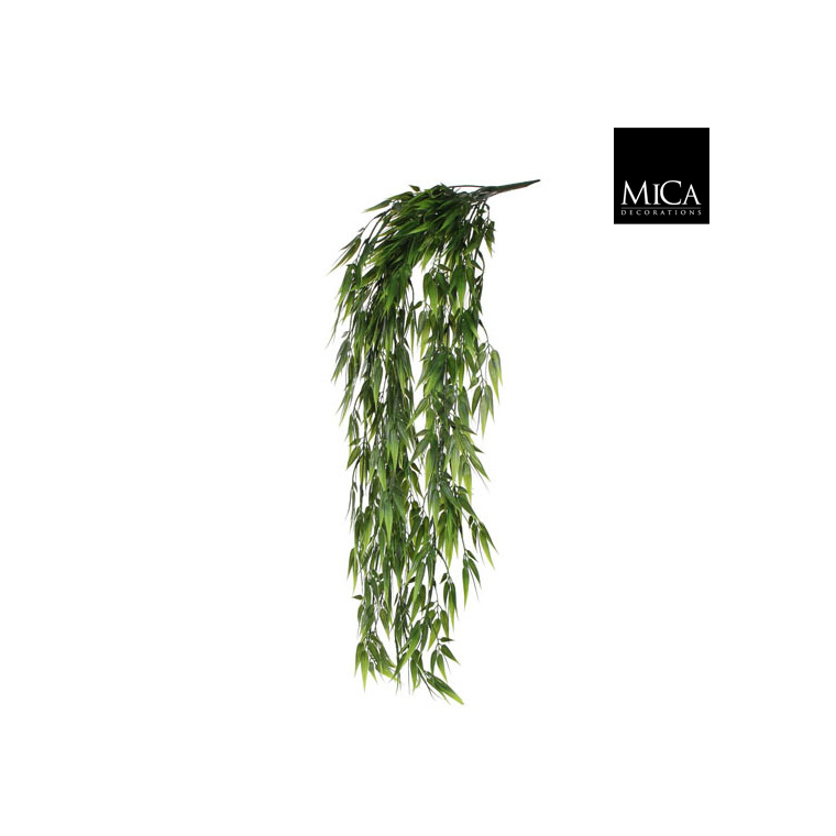 Bambou artificiel vert en chute à suspendre 80x15 cm 174614