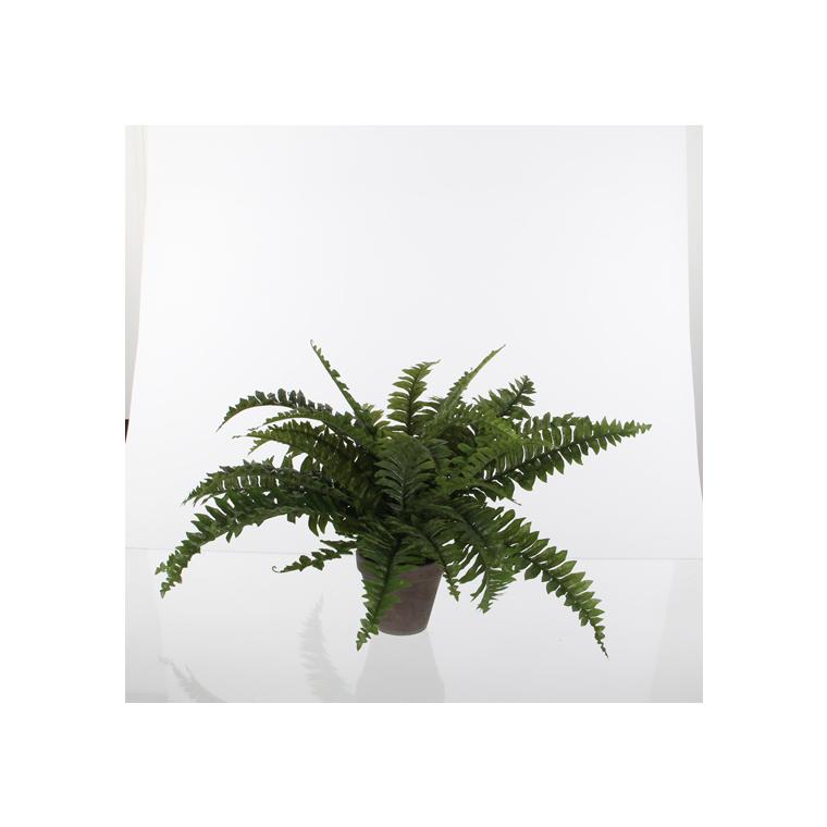 Fougère artificielle verte en pot gris H 42 x Ø 50 cm 174622