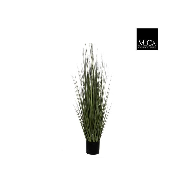Herbe verte plante artificielle en pot H 122 x Ø 35 cm 174623