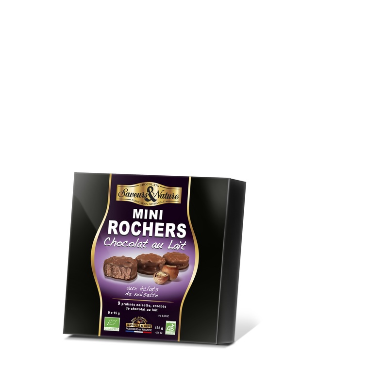 9 mini rochers praliné noisette chocolat au lait 135 g 182721