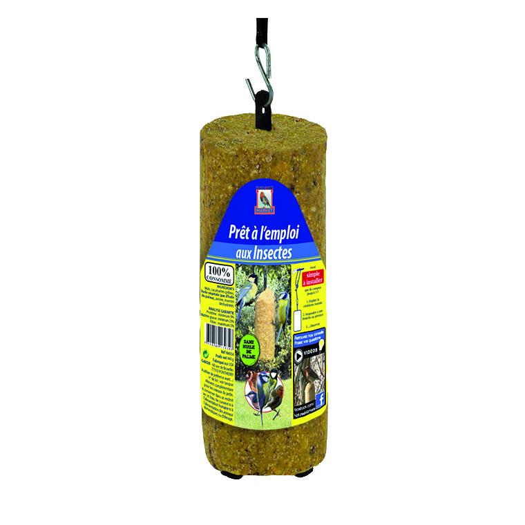 Cylindre de graisse végétale aux insectes prêt à l'emploi marron 440 g 183082