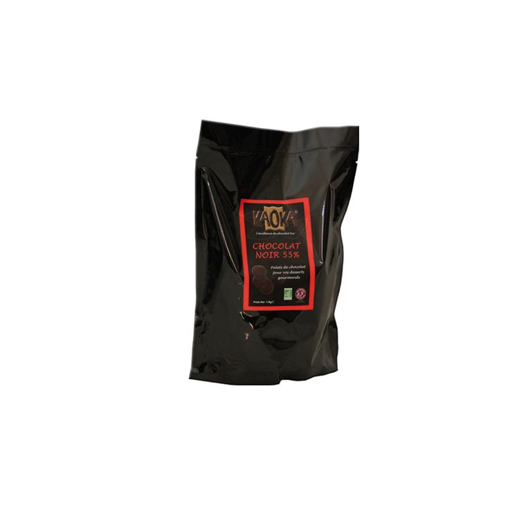 Palets noir 55% 1 kg KAOKA 183832