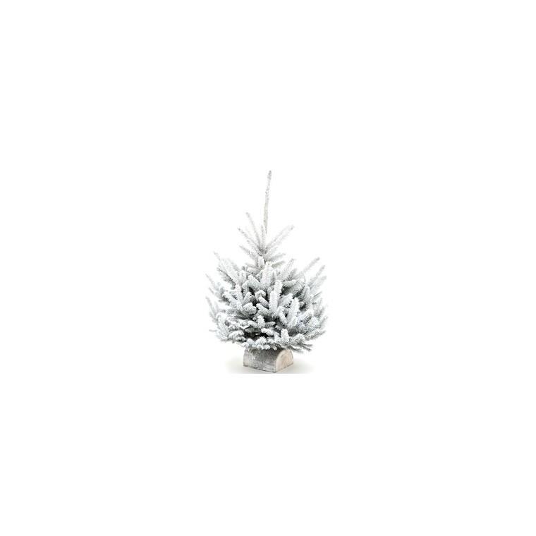 Sapin naturel Glacé Robin blanc enneigé H 70/80 cm 184506