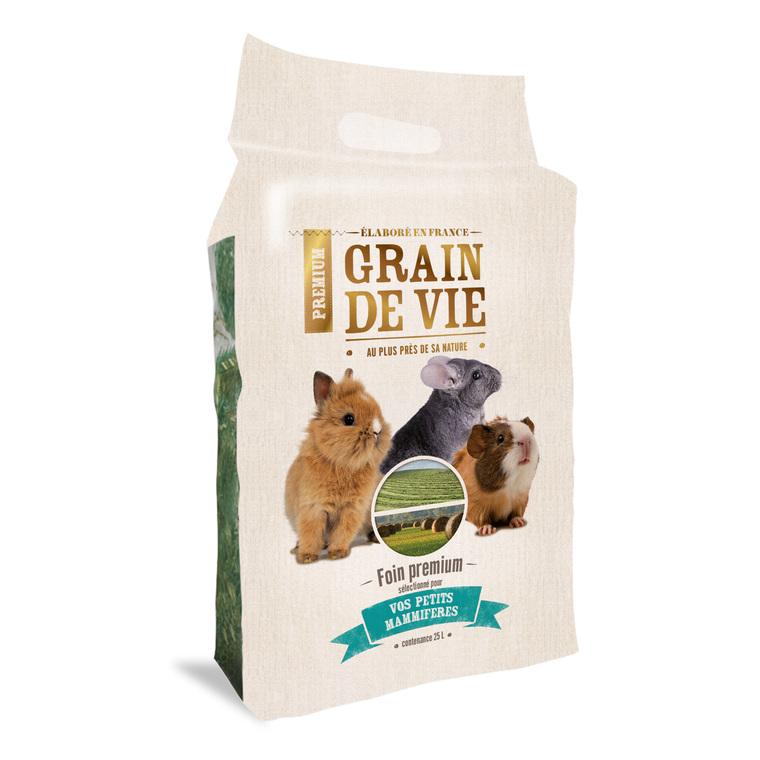 Foin Premium petits mammifères Grain de vie® - 25L 185961