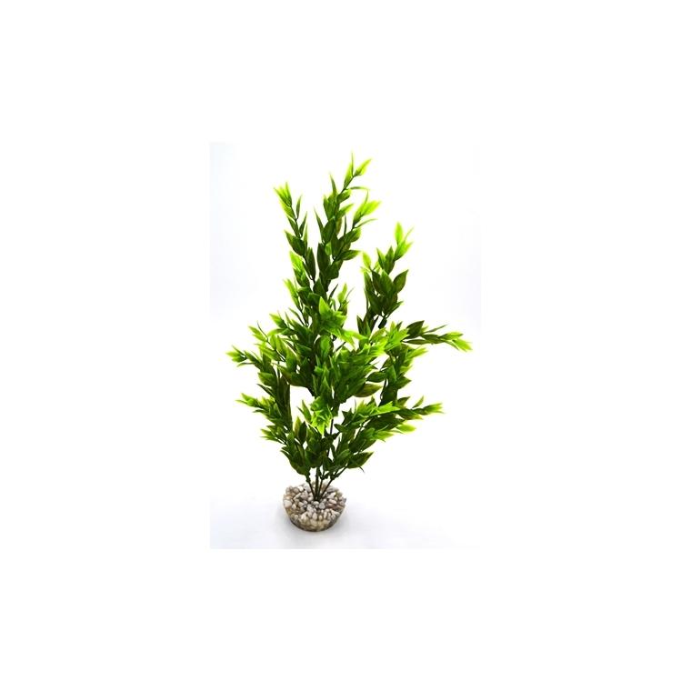 Buisson plante verte en plastique 35 cm 186524