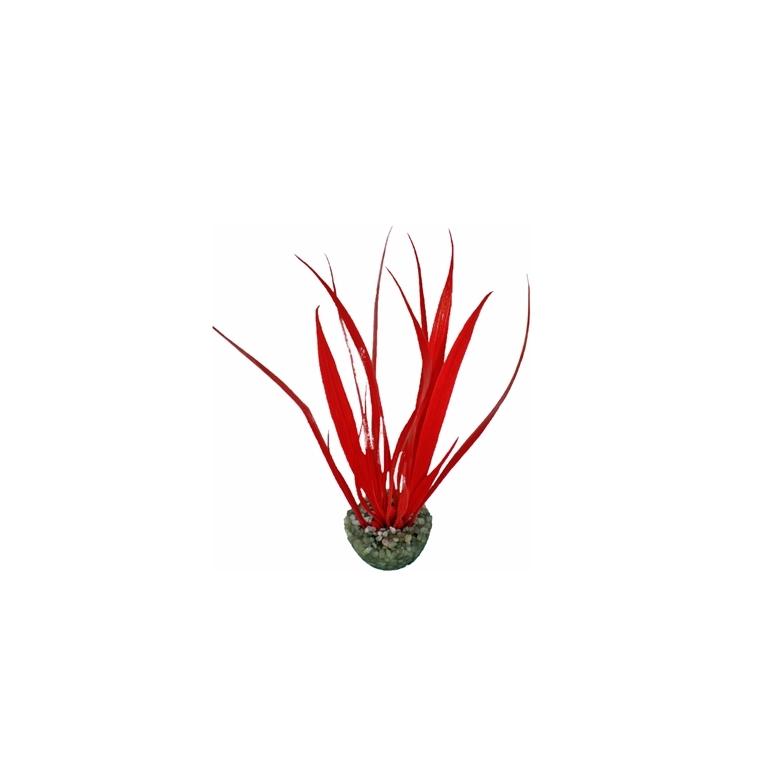 Herbe rouge en plastique petit modèle 16 cm 186633