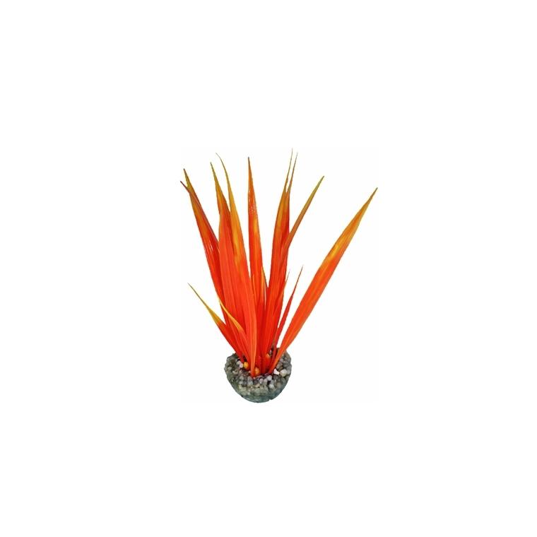 Herbe orange en plastique petit modèle 16 cm 186635