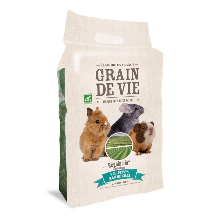 Regain bioFoin pour rongeurs Regain Bio Grain de Vie en sac de 25 L