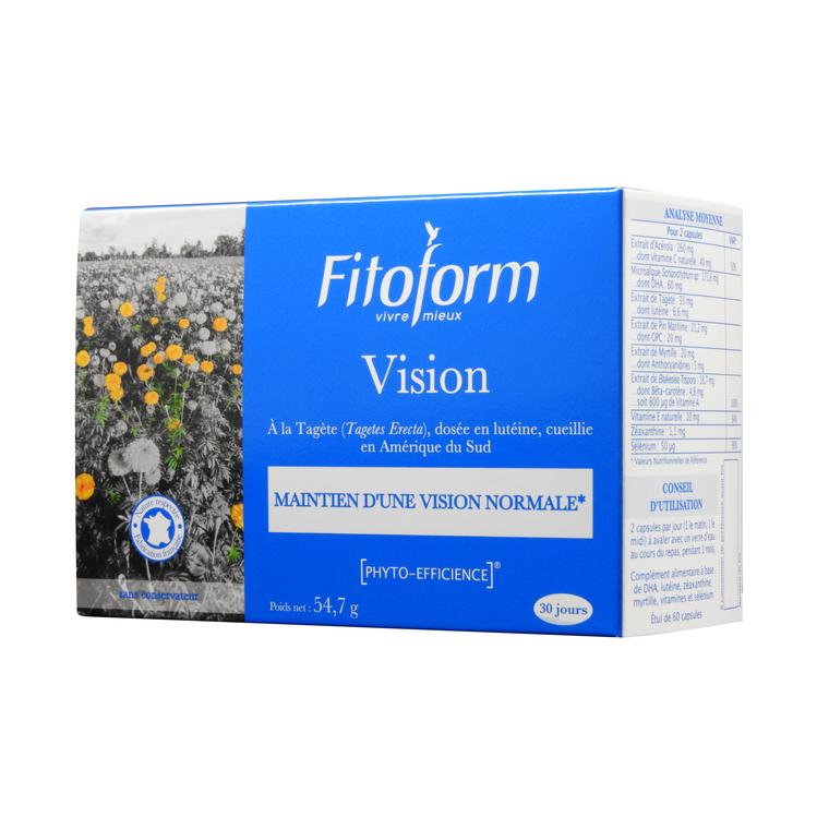 Complément alimentaire vision en boite de 60 capsules