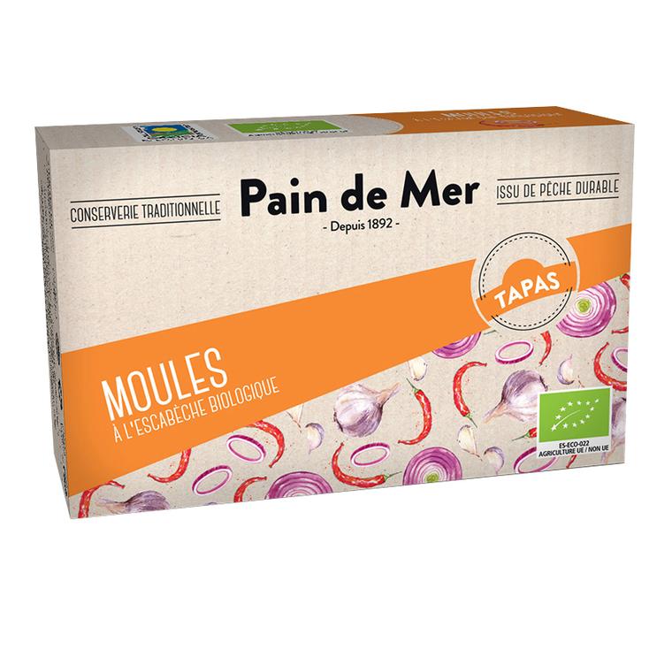 Moules sauce escabèche en boîte Pain de Mer - 120 g 187513