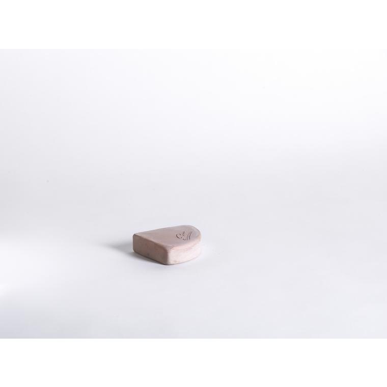 Pied quart de rond en terre claire H 2,5 x Ø 12  cm 187977