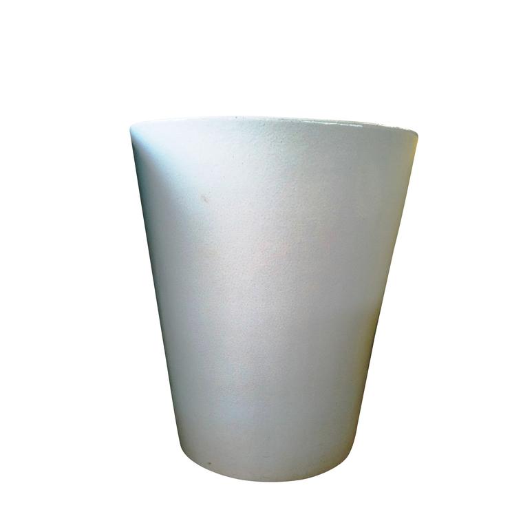 Pot Mazagran blanc pur en terre cuite émaillée H 63 X Ø 55 cm 188027