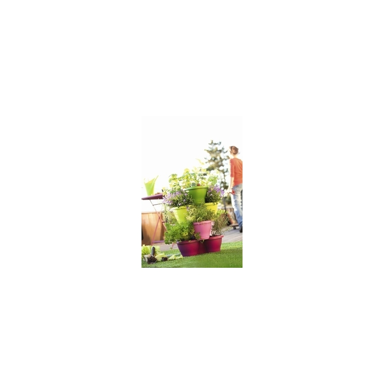 Pot CORSICA Vertical garden Blanc Ø.44 x H.34 cm 12 litres 189673