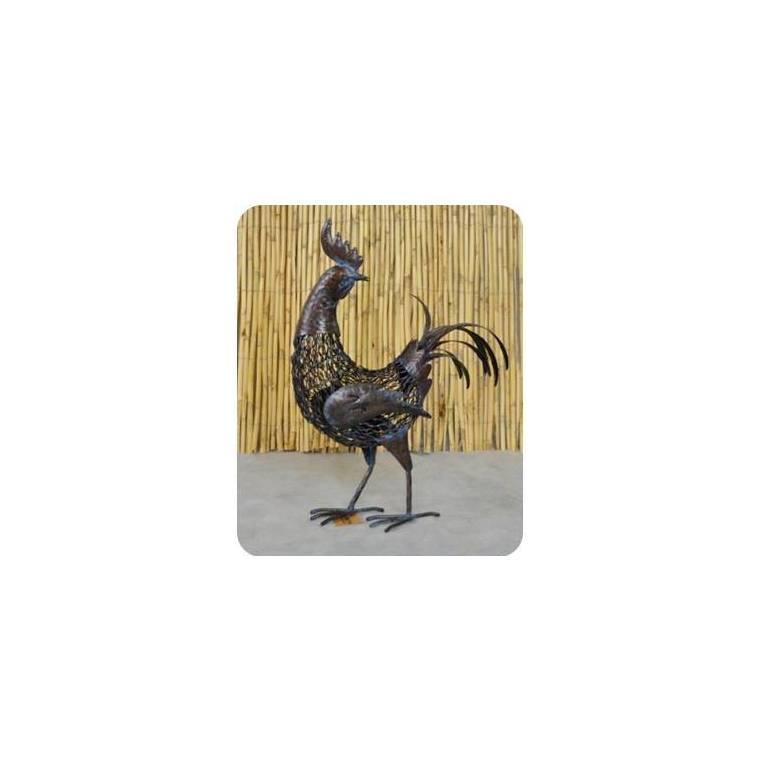 Statue coq Kenty, coloris métal, 43 x 16 x 55 cm 197826