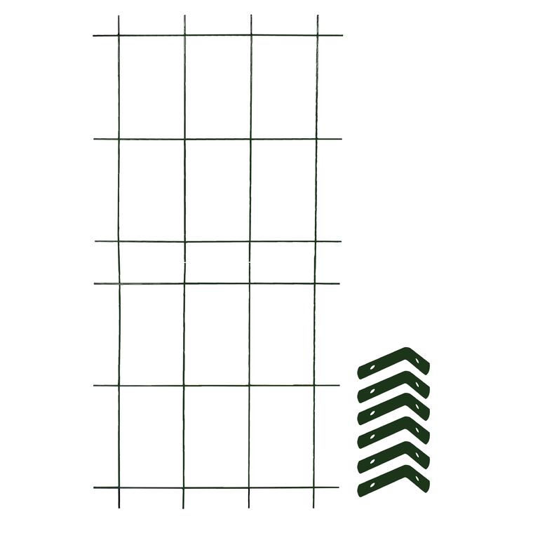 Treillage colonne 2 éléments + 6 équerres fixations vert sapin 1,60x75 197870